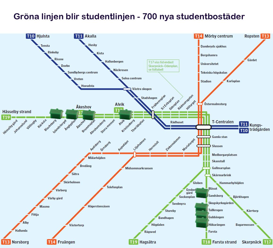 gröna linjen karta Här är ett förslag: Gör gröna linjen till en studentlinje! | Tomas  gröna linjen karta